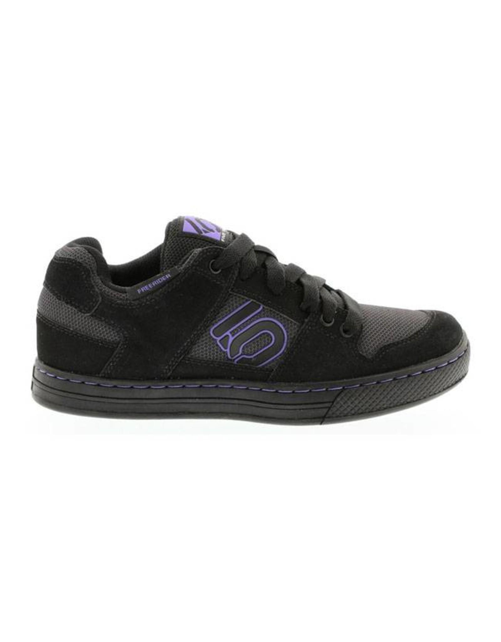 Five Ten Five Ten Freerider Women's Flat Pedal Shoe: Black/Purple 6.5