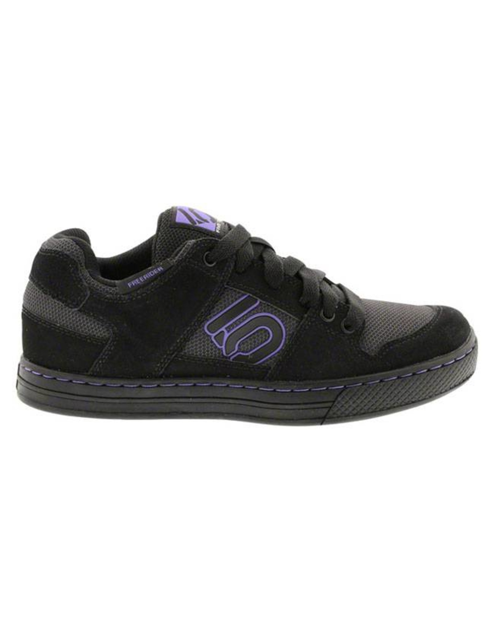 Five Ten Five Ten Freerider Women's Flat Pedal Shoe: Black/Purple 9.5