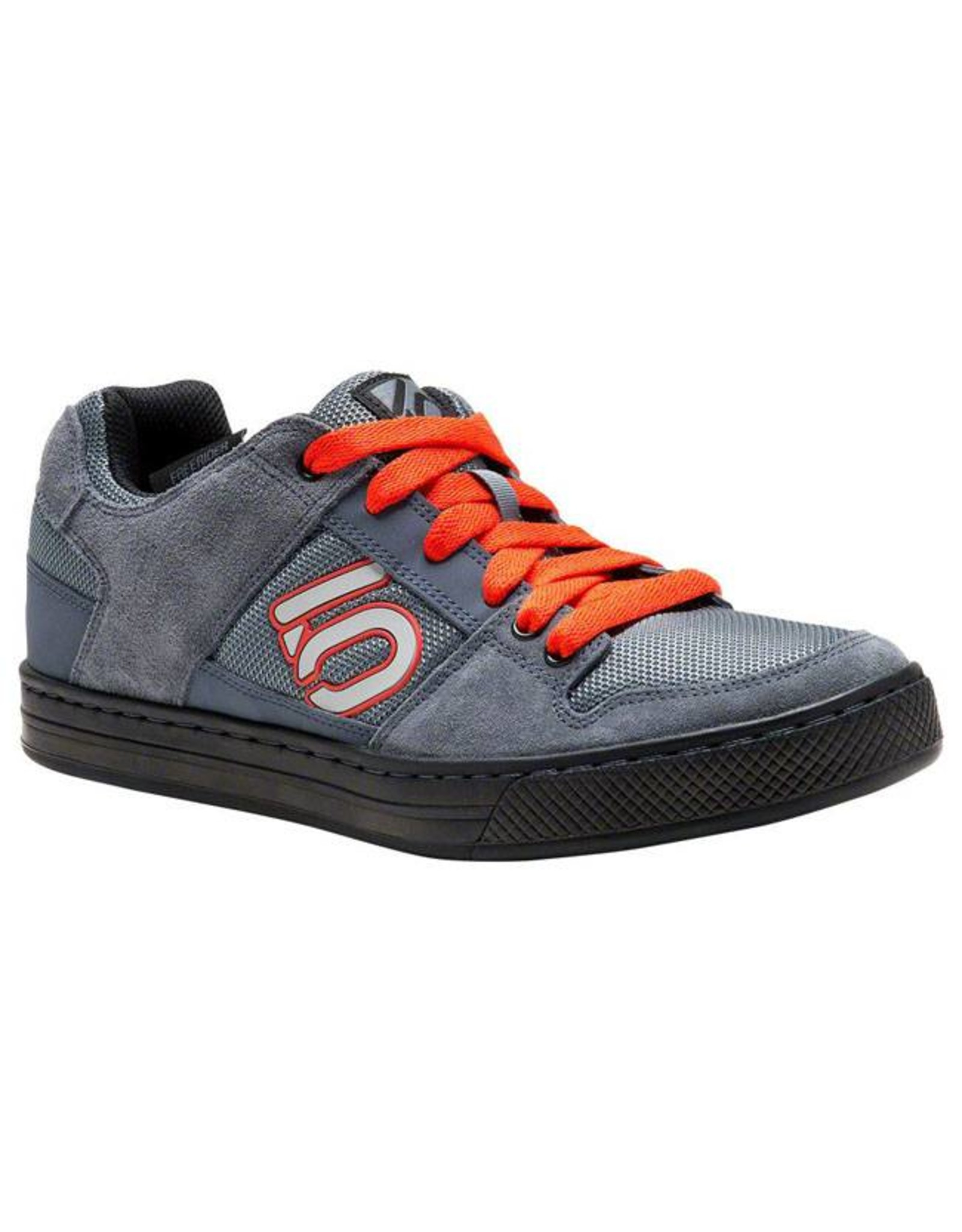 Five Ten Five Ten Freerider Men's Flat Pedal Shoe: Gray/Orange 9.5