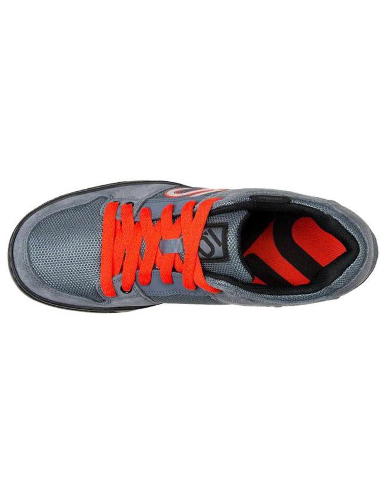 Five Ten Five Ten Freerider Men's Flat Pedal Shoe: Gray/Orange 12