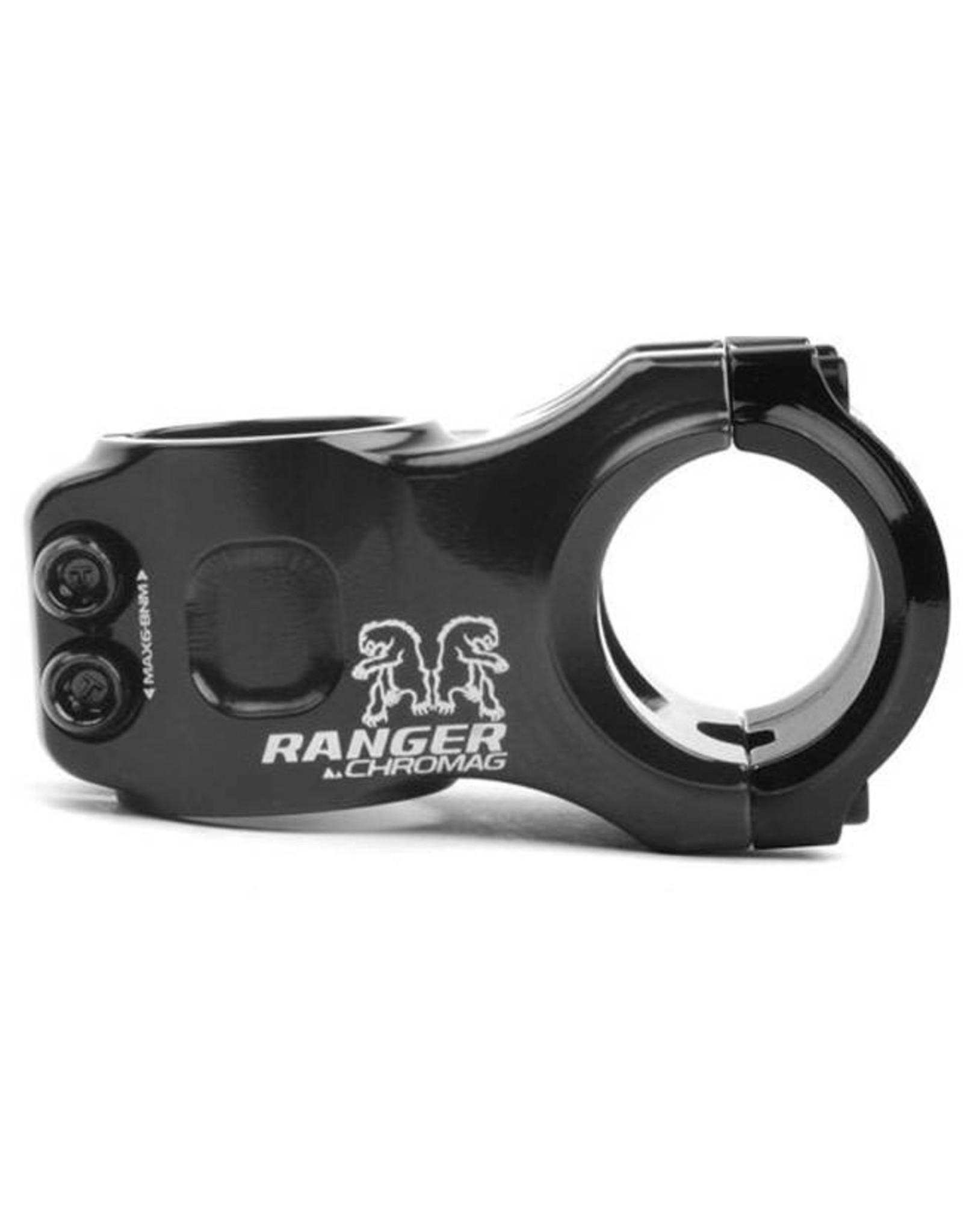 """Chromag Ranger V2 Stem: 31mm, 31.8mm Clamp, 1-1/8"""", +/- 0 Degree, Black"""