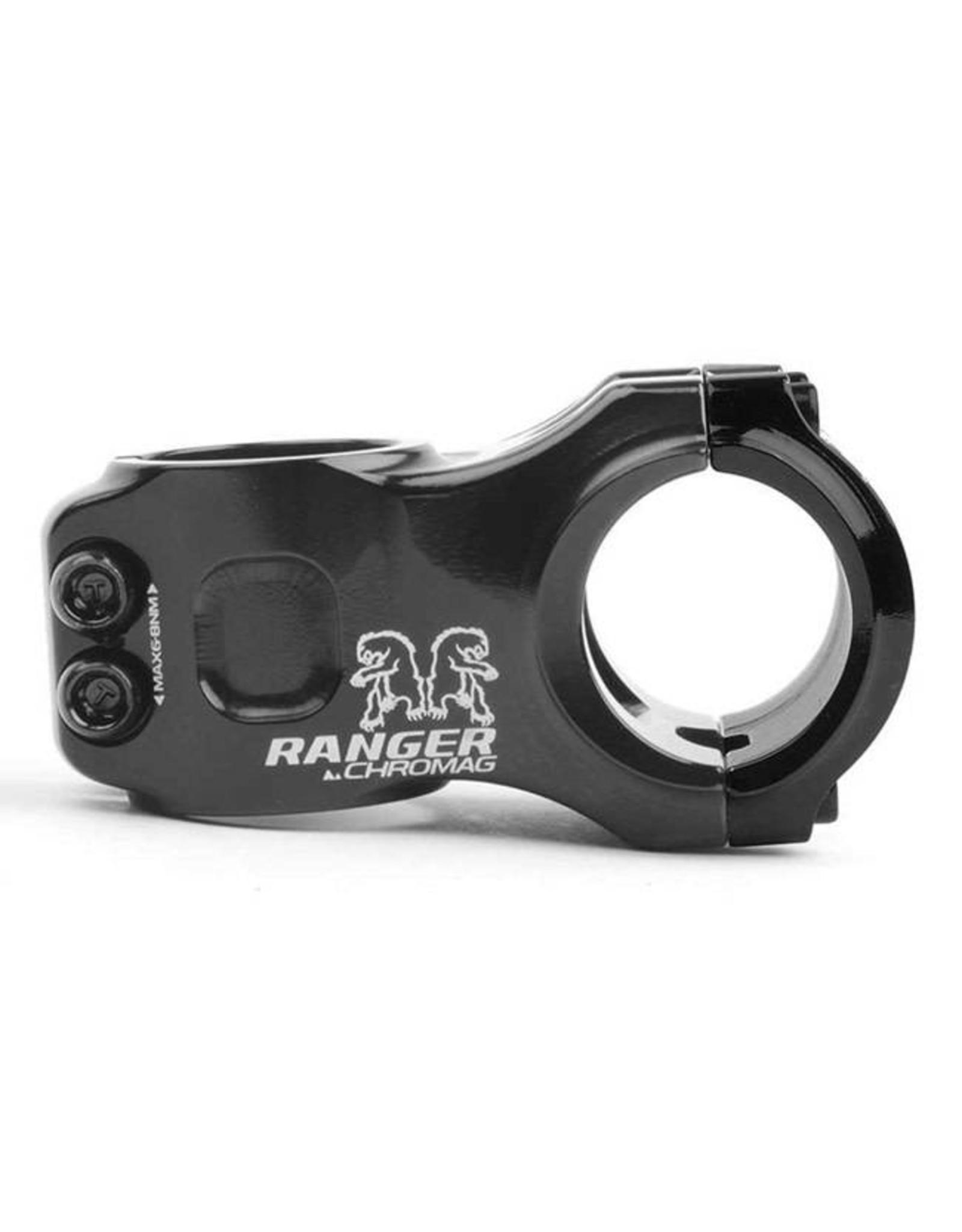 """Chromag Ranger V2 Stem: 50mm, 31.8mm Clamp, 1-1/8"""", +/- 0 Degree, Black"""