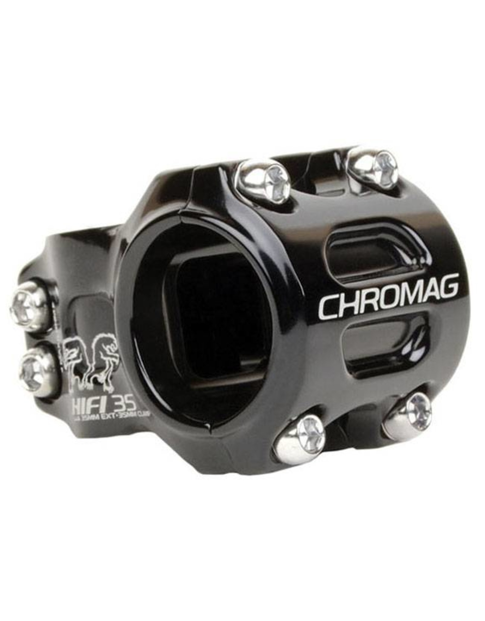 "Chromag HiFi Version 2 Stem: 50mm Extension, 35mm Clamp, 1-1/8"" Steerer, +/- 0 Degree Black"