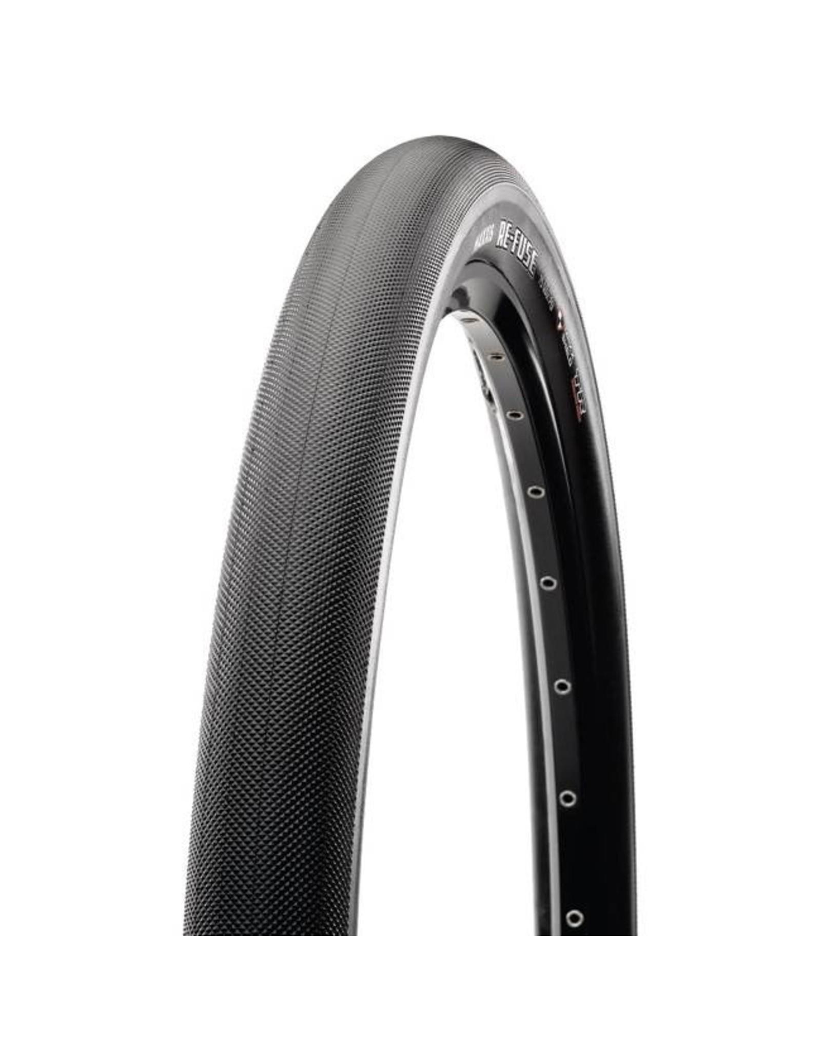 "Maxxis Maxxis Re-Fuse Tire: 27.5 x 2.00"", Folding, 60tpi, Dual Compound, MaxxShield, Tubeless Ready, Black"