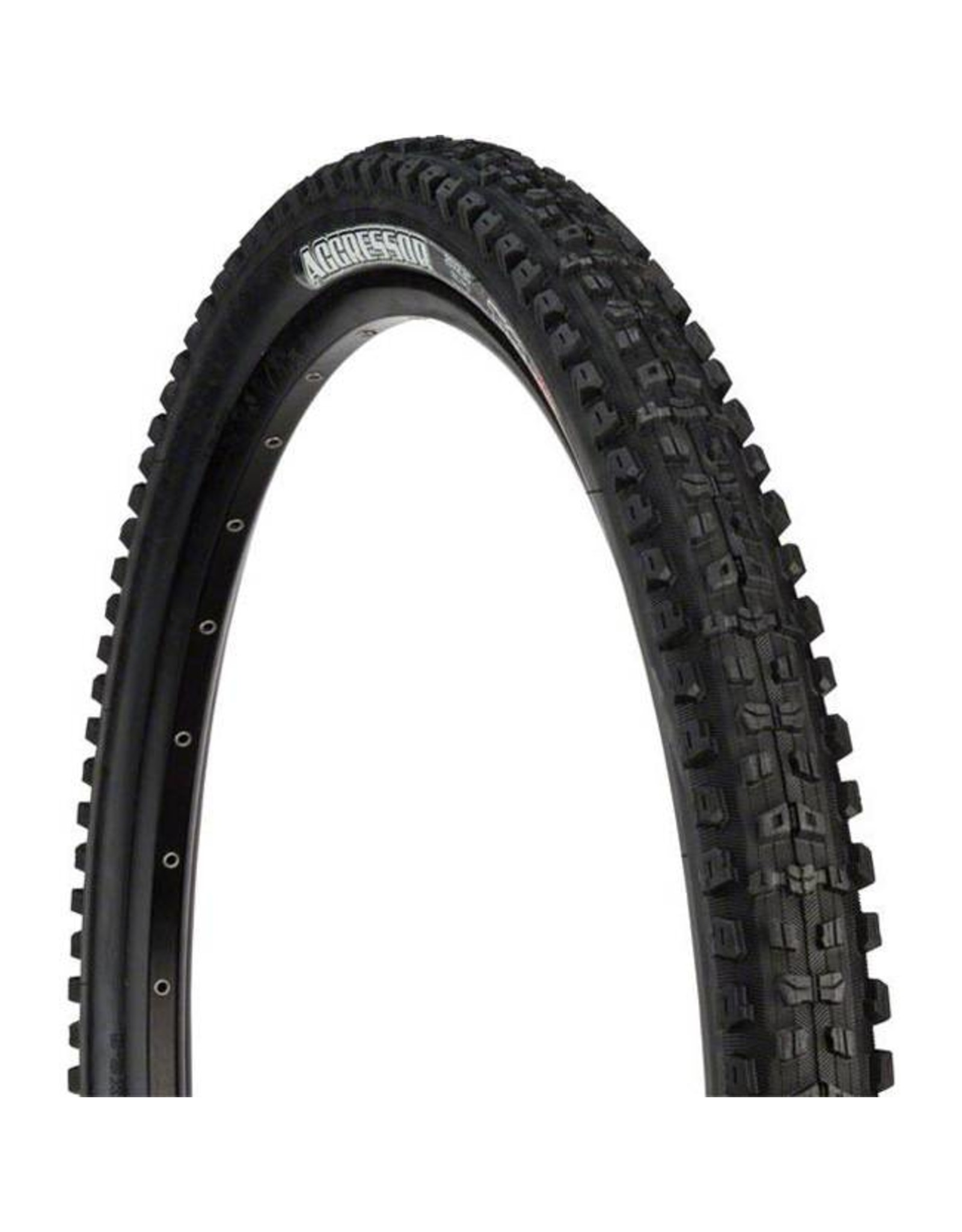 "Maxxis Maxxis Aggressor Tire: 27.5 x  2.30"", Folding, 120tpi, Dual Compound, Double Down, Tubeless Ready, Black"