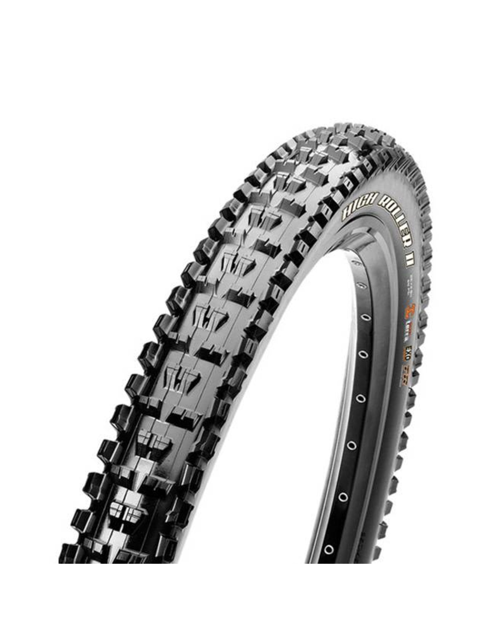 "Maxxis Maxxis High Roller II Tire: 27.5 x 2.80"", Folding, 60tpi, Dual Compound, EXO, Tubeless Ready, Black"