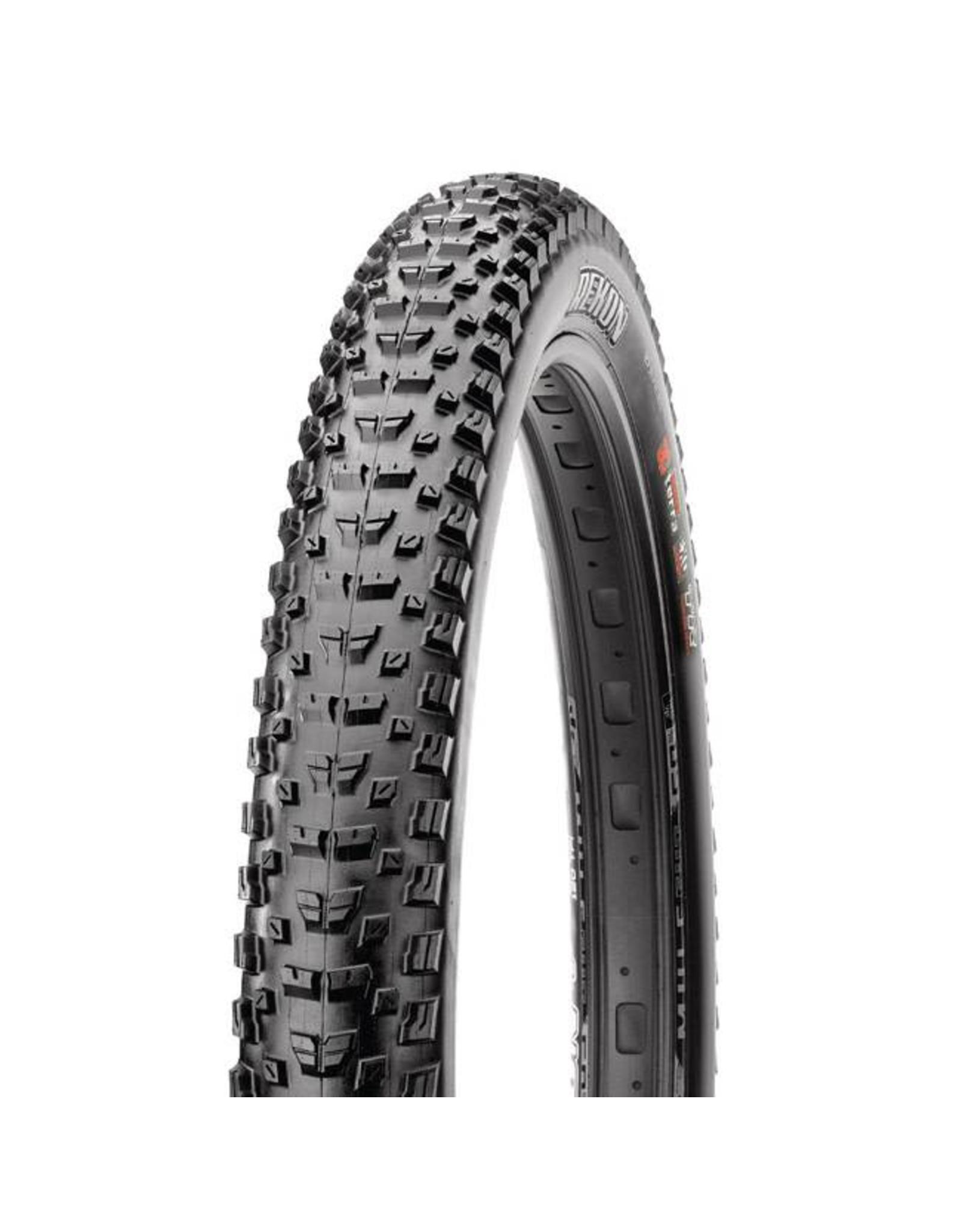 "Maxxis Maxxis Rekon Tire: 27.5 x 2.60"", Folding, 60tpi, Dual Compound, EXO, Tubeless Ready, Black"