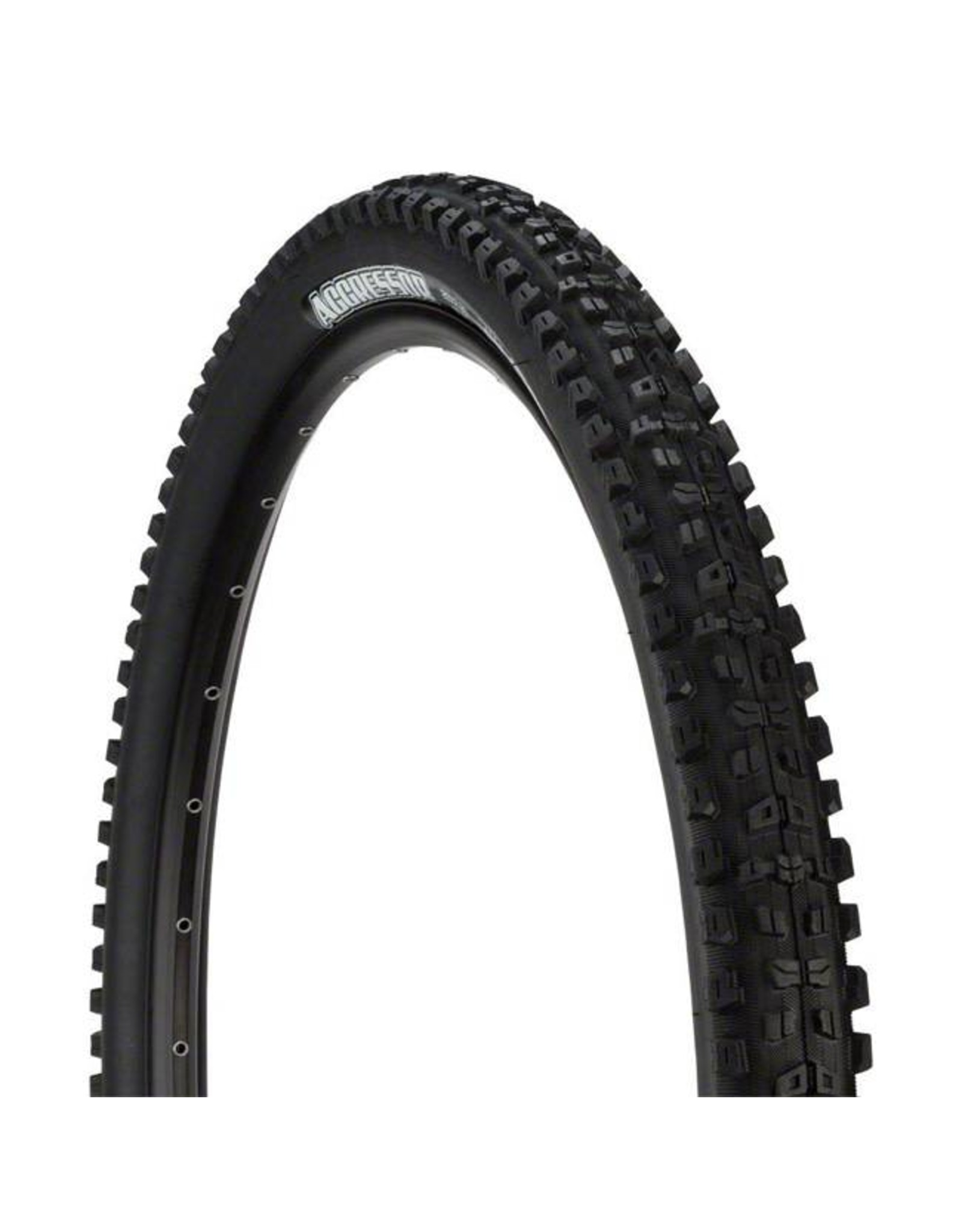 """Maxxis Maxxis Aggressor Tire: 27.5 x 2.50"""", Folding, 120tpi, Dual Compound, Double Down, Tubeless Ready, Wide Trail, Black"""