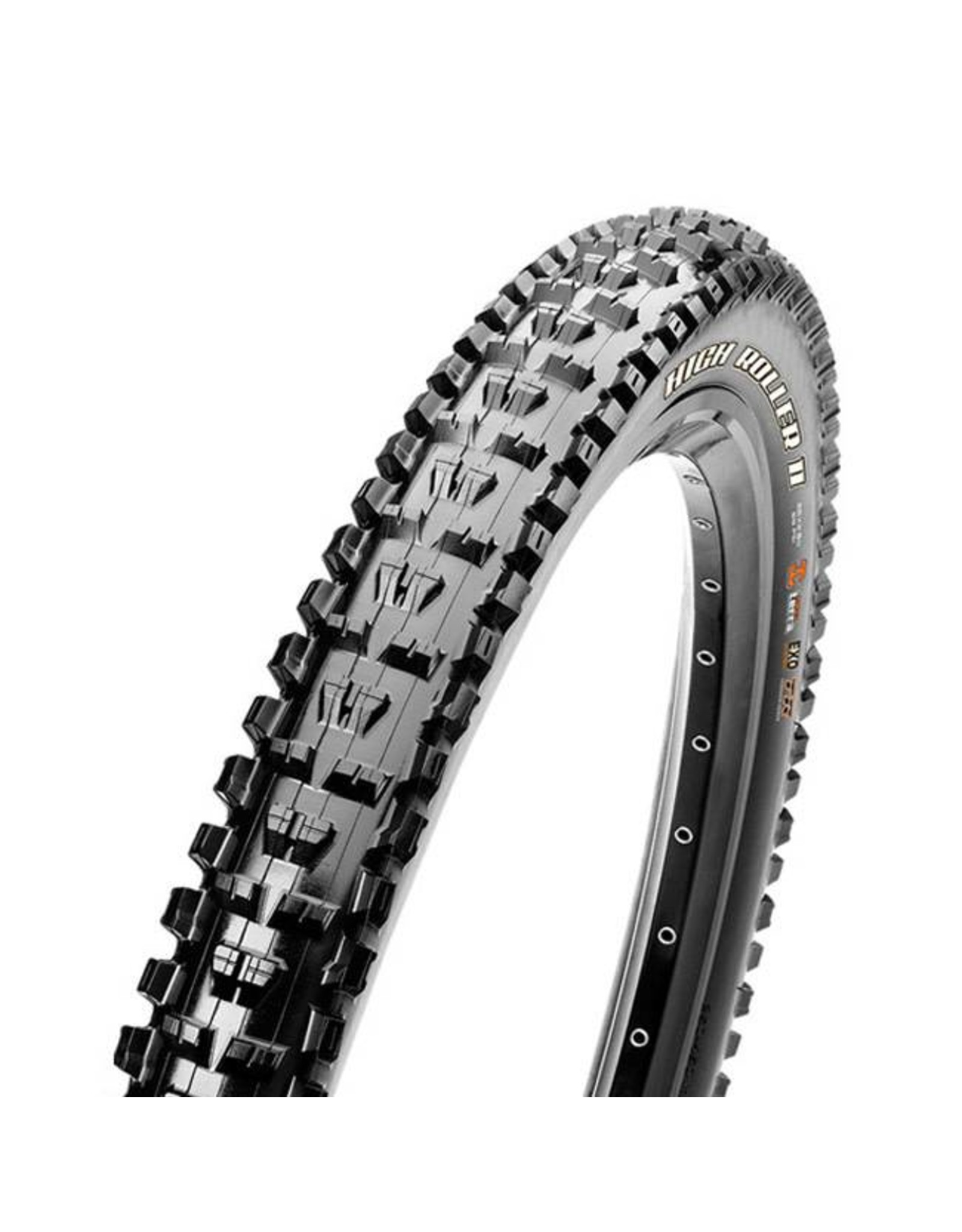 "Maxxis Maxxis High Roller II Tire: 29 x 2.30"", Folding, 60tpi, Dual Compound, EXO, Tubeless Ready, Black"