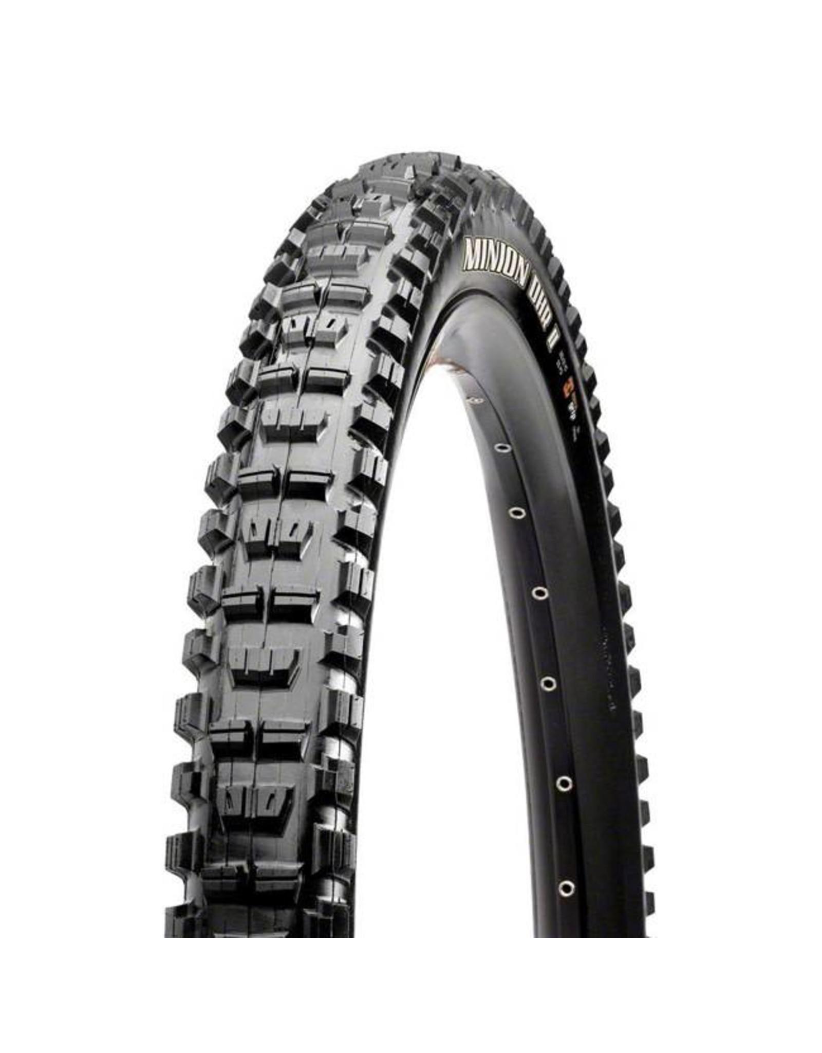 """Maxxis Maxxis Minion DHR II Tire: 27.5 x 2.40"""", Folding, 60tpi, 3C MaxxGrip 2- Ply, Tubeless Ready, Wide Trail, Black"""