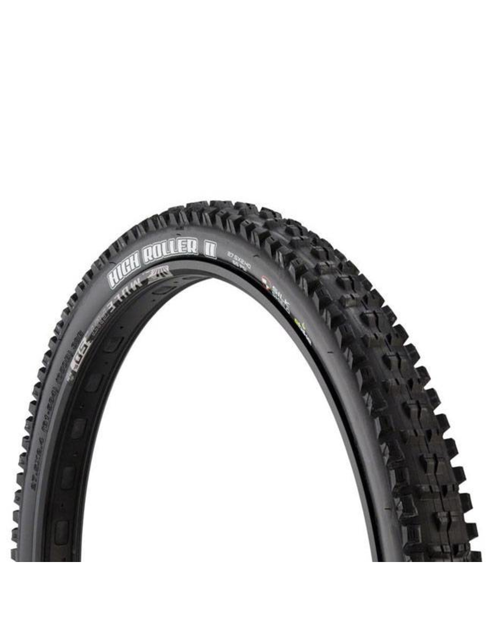 "Maxxis Maxxis High Roller II Tire: 27.5 x 2.40"", Folding, 60tpi, SilkShield, E- Bike Rated, Black"