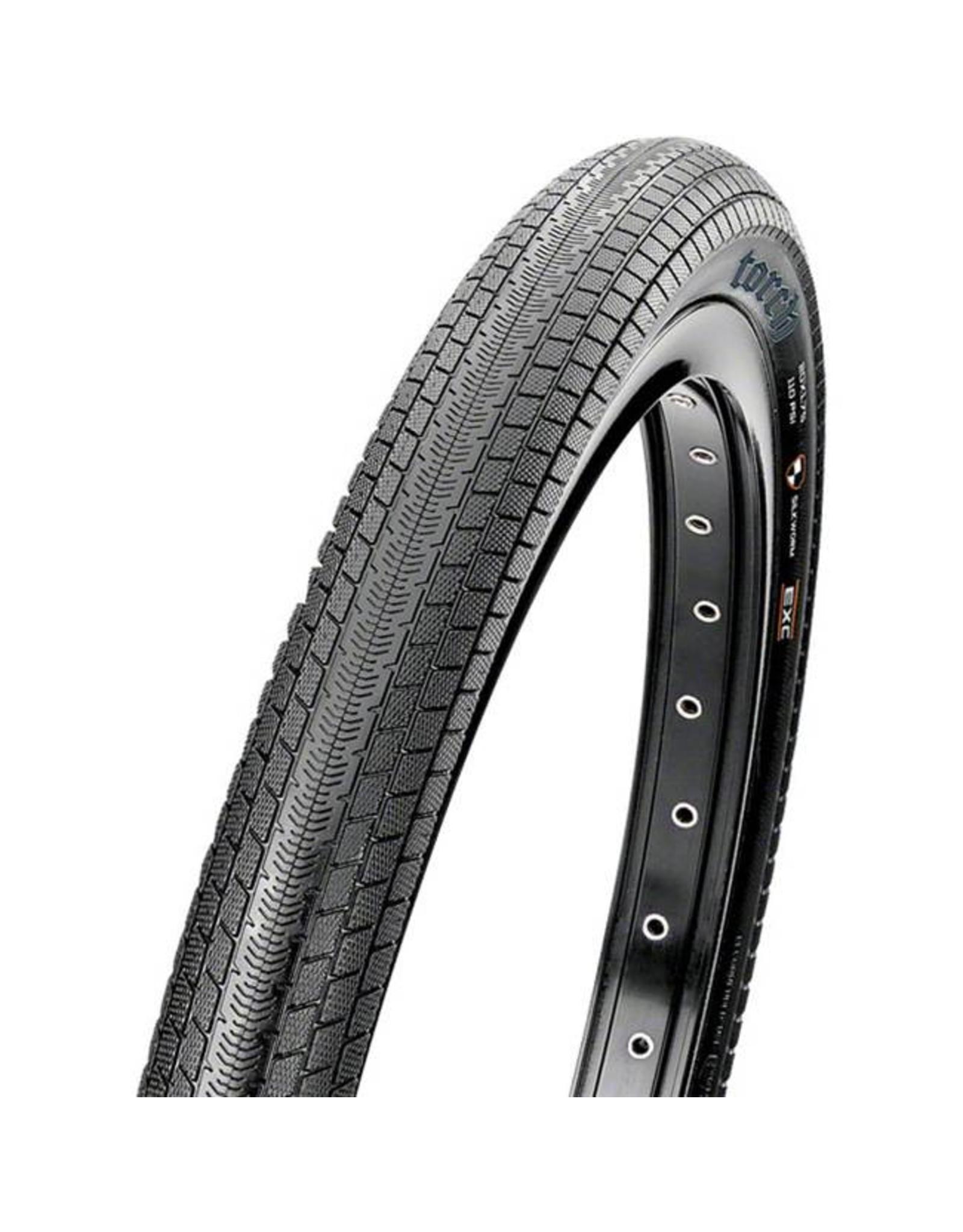 "Maxxis Maxxis Torch Tire: 20 x 1.75"", Folding, 120tpi, Dual Compound, SilkShield, Black"