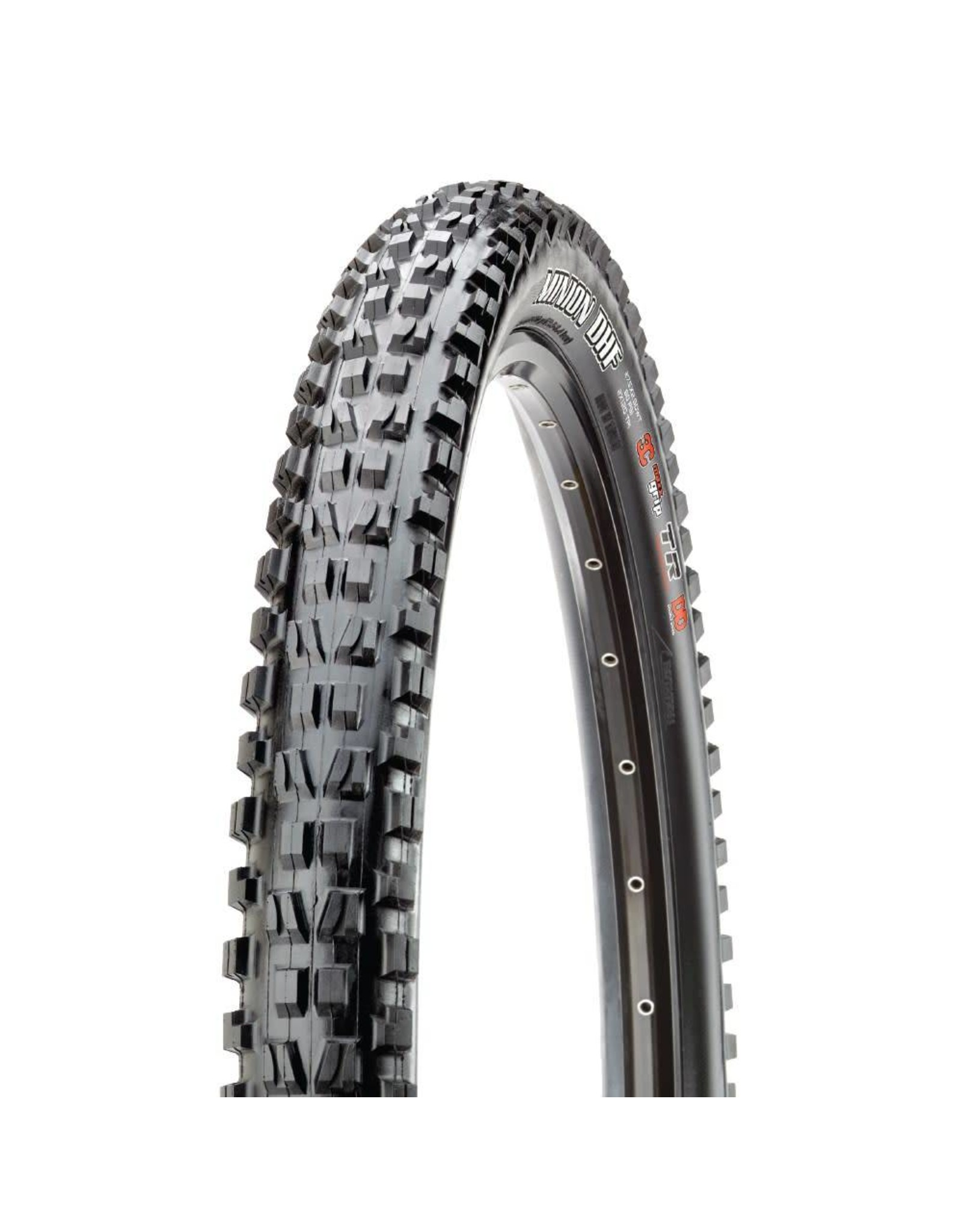 "Maxxis Maxxis Minion DHF Tire: 27.5 x 2.50"", Folding, 60tpi, Dual Compound, EXO, Tubeless Ready, Wide Trail, Black"