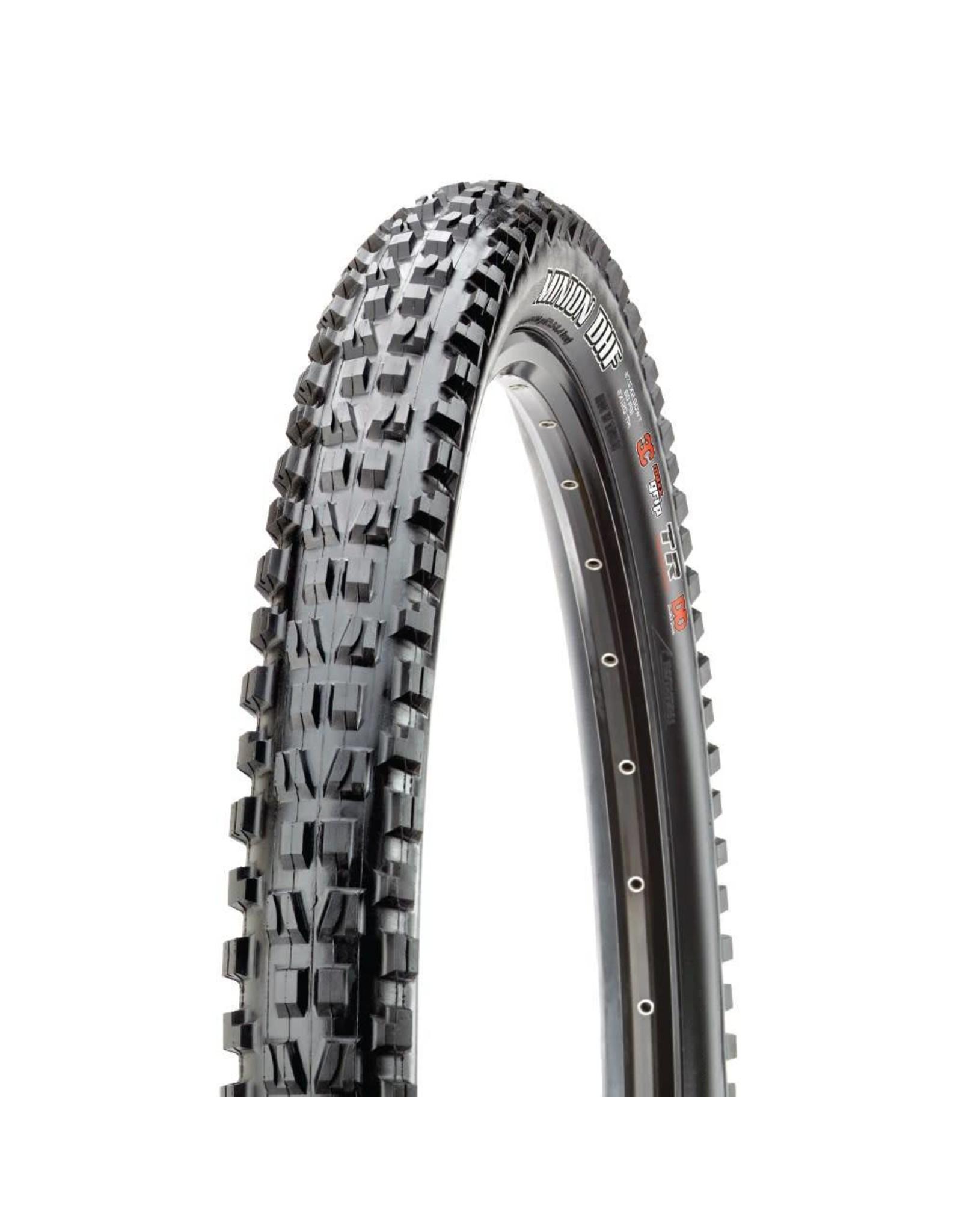 "Maxxis Maxxis Minion DHF Tire: 27.5 x 2.50"", Folding, 60tpi, 3C MaxxGrip, EXO, Tubeless Ready, Wide Trail, Black"