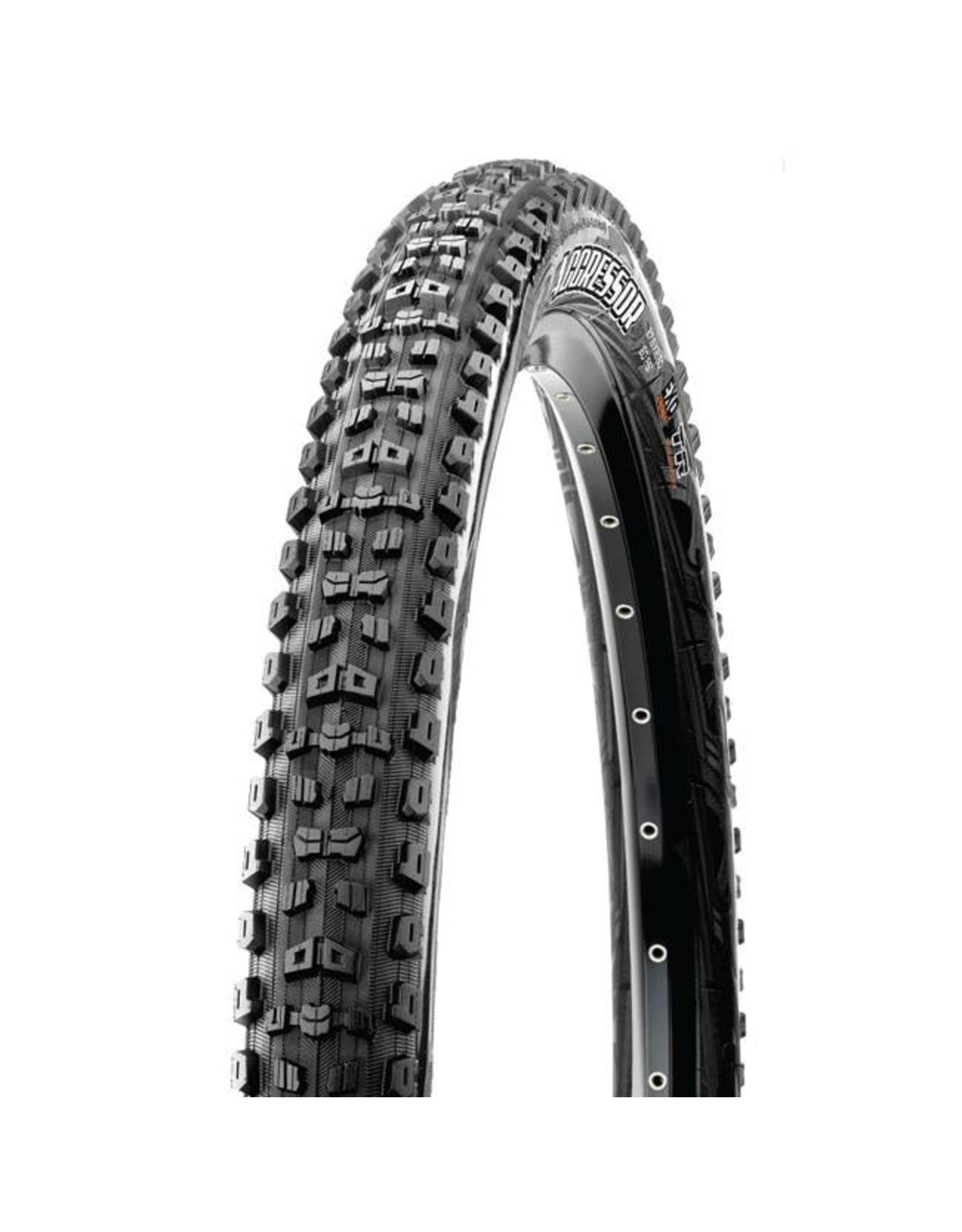"Maxxis Maxxis Aggressor Tire: 27.5 x 2.30"", Folding, 60tpi, Dual Compound, EXO, Tubeless Ready, Black"