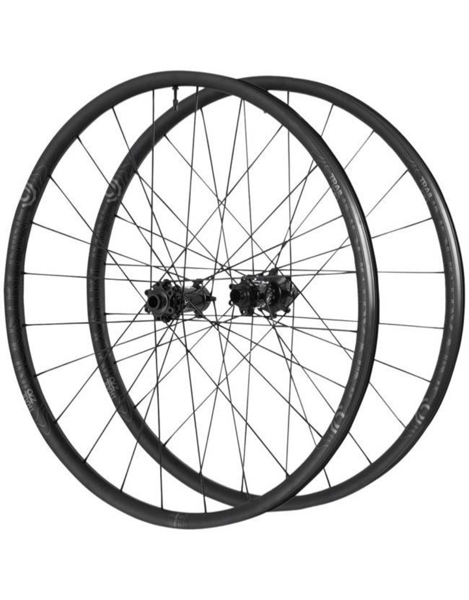 "Industry Nine Industry Nine Trail 270 Wheelset: 27.5"", 24H, 15 x 110mm Boost Front, 12 x 148mm Boost Rear, Shimano Freehub, Black"