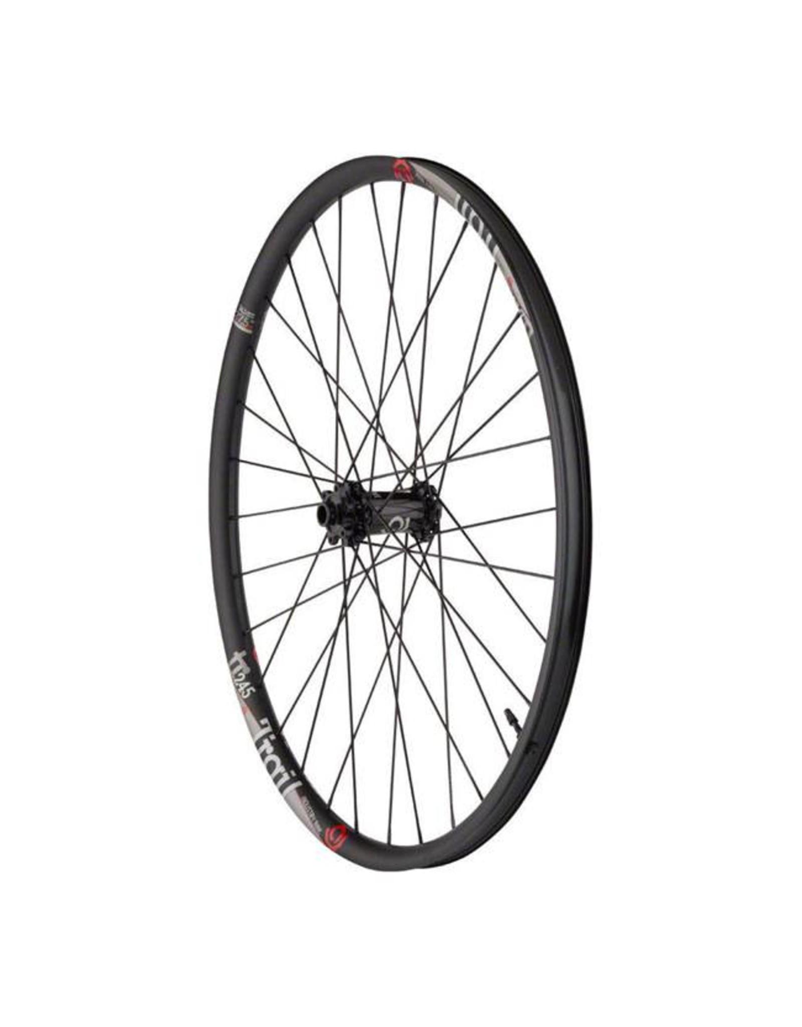 "Industry Nine Industry Nine Trail 245 Wheelset: 27.5"", 15 x 110mm Boost, 12 x 148mm, 32H, Shimano HG Freehub, Black"