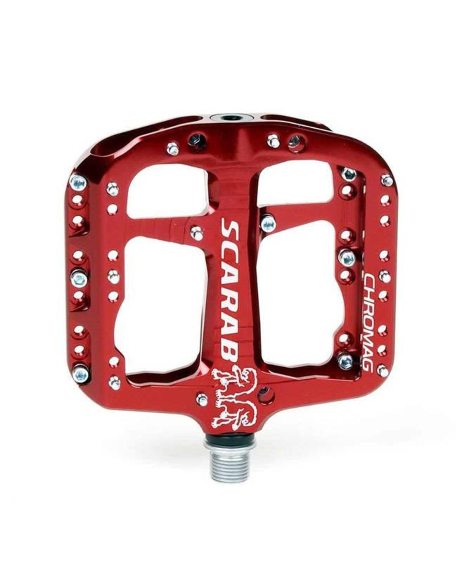 "Chromag Scarab Platform Pedals: 9/16"", Red"