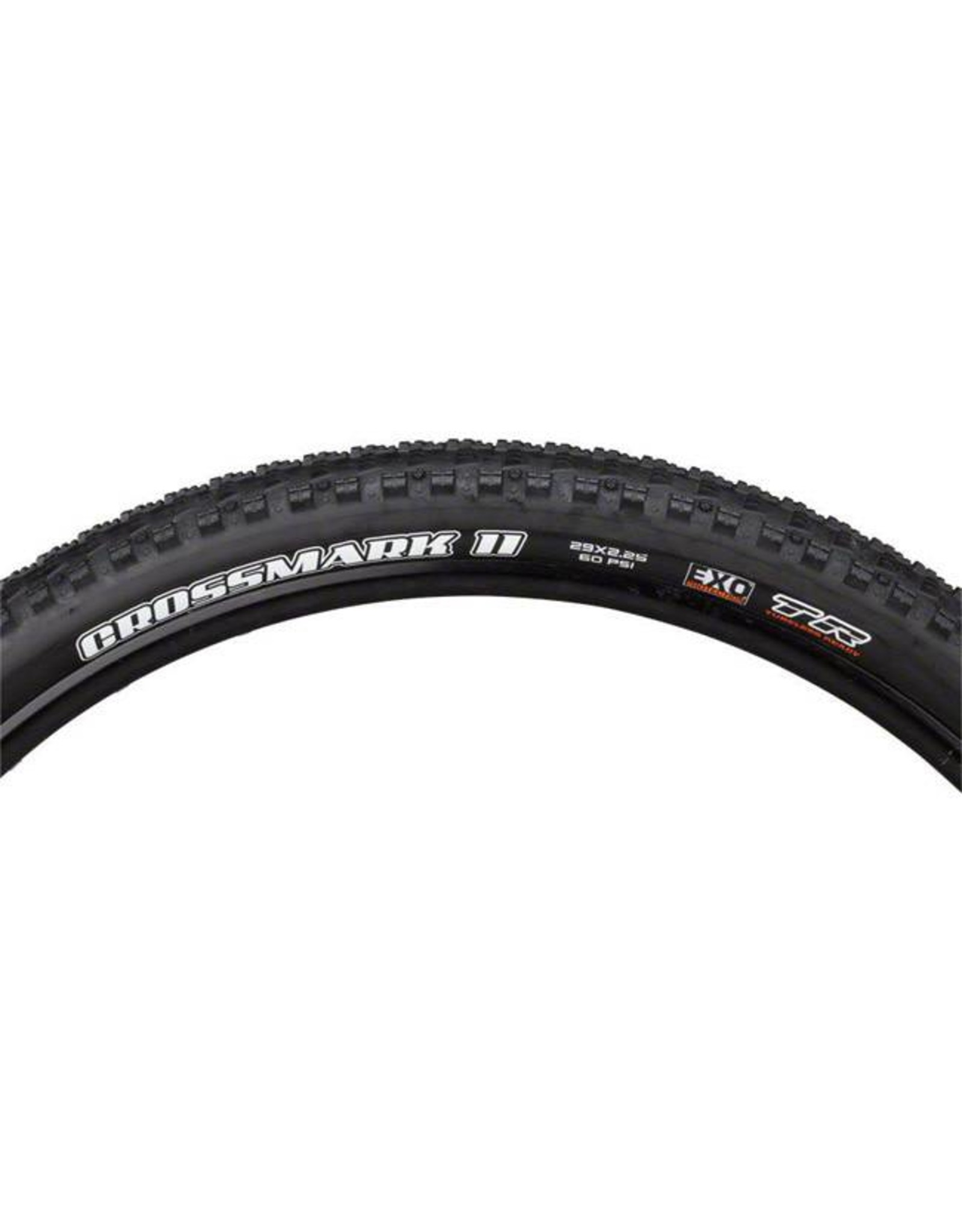 "Maxxis Maxxis Crossmark II Tire: 29 x 2.25"", Folding, 60tpi, Dual Compound, EXO, Tubeless Ready, Black"
