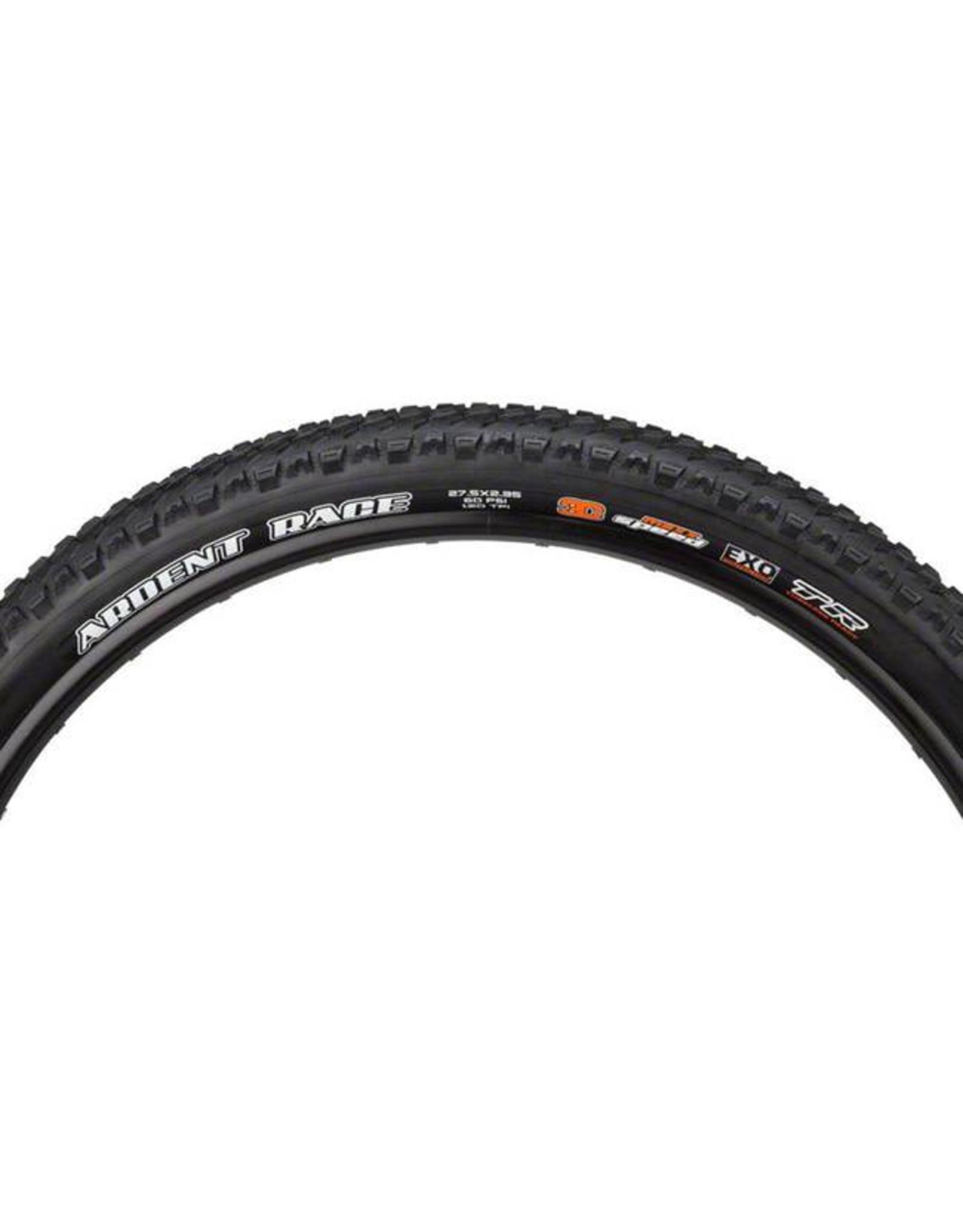 "Maxxis Maxxis Ardent Race Tire: 27.5 x 2.35"", Folding, 120tpi, 3C, EXO, Tubeless Ready, Black"