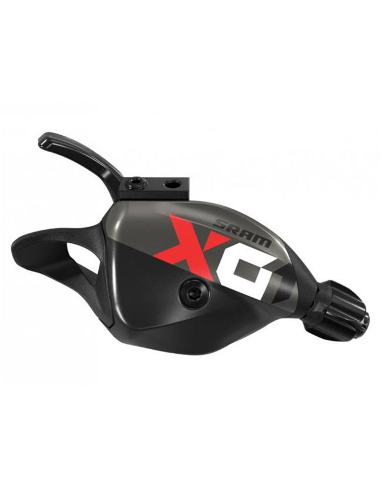 SRAM SRAM X01 Eagle 12-Speed Trigger Shifter with Discrete Clamp, Black with Red Logo