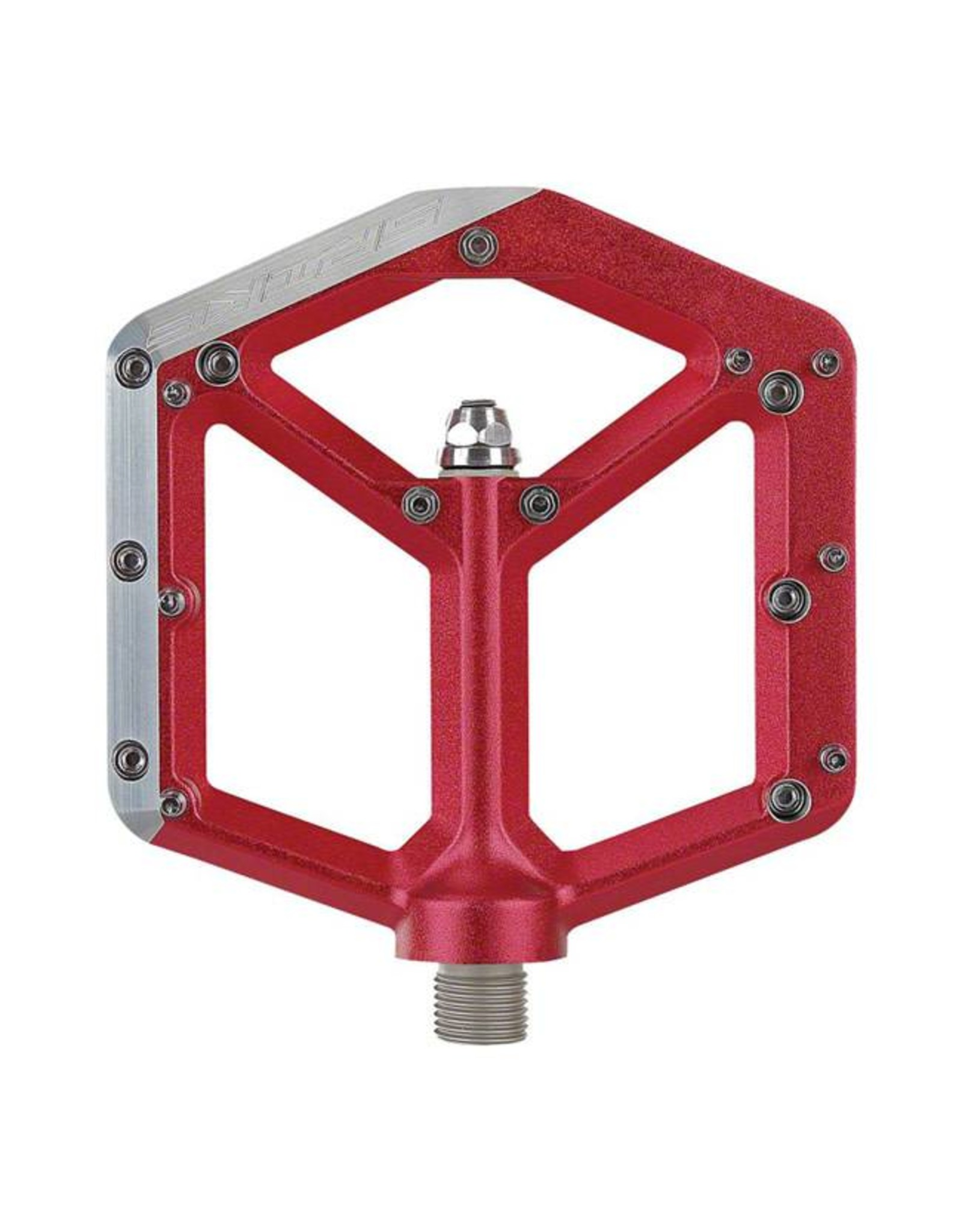 Spank Spank Spike Flat DH Pedal, Red