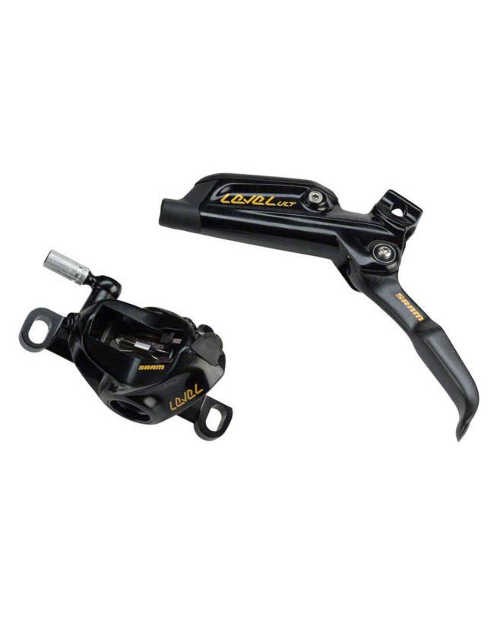 SRAM SRAM Level Ultimate Rear Disc Brake 1800mm Hose with Ti Hardware, Black/Gold, Rotor/Bracket Sold Separately A1