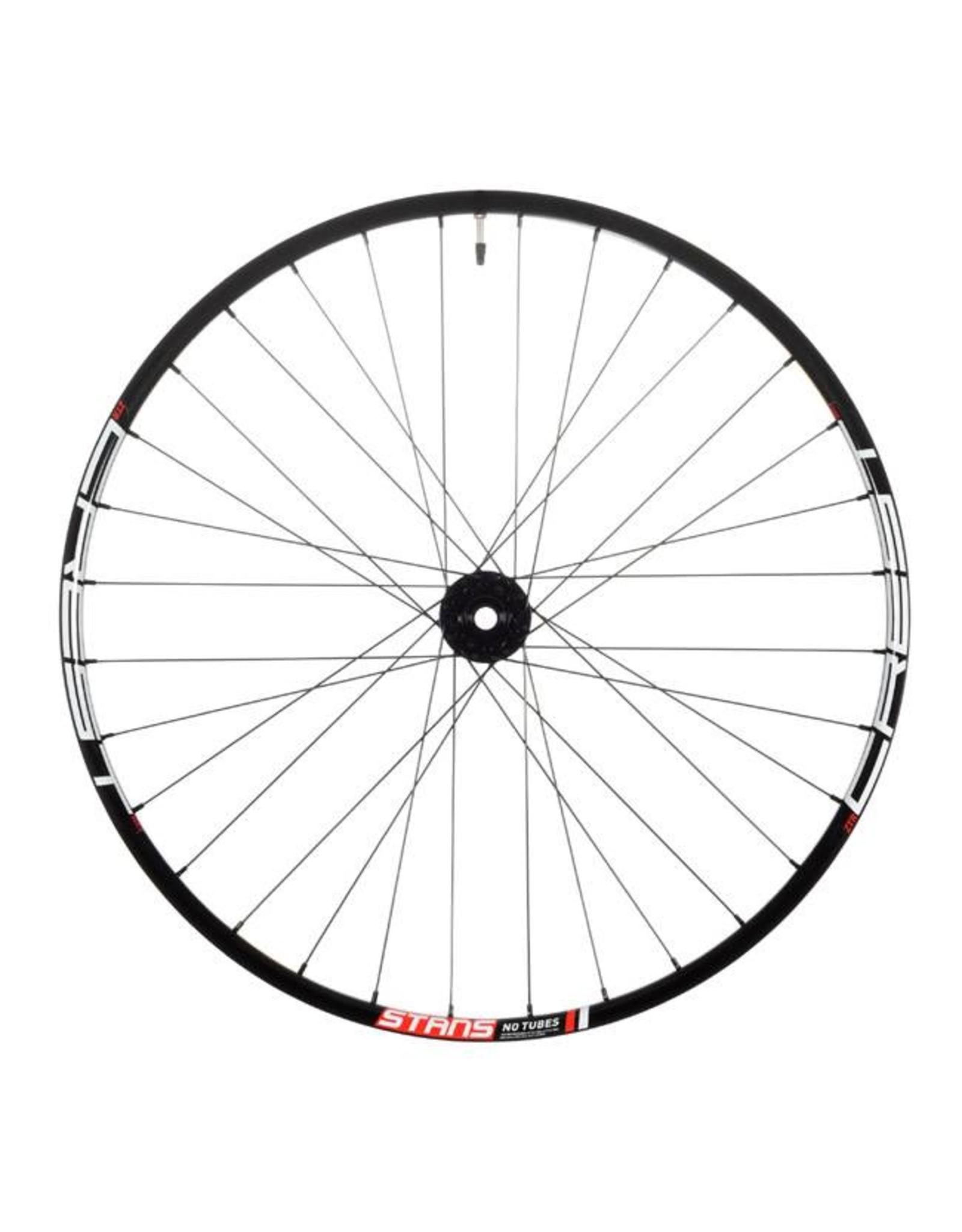 "Stan's No Tubes Stan's No Tubes Crest MK3 Front Wheel: 29"" Alloy, 15 x 110mm Boost, 6- Bolt Disc, Black"