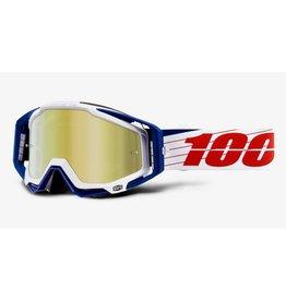 100% 100% Racecraft Goggle Bibal/White