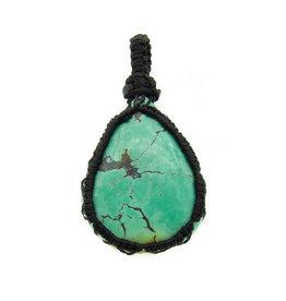 Pendentif Turquoise macramé