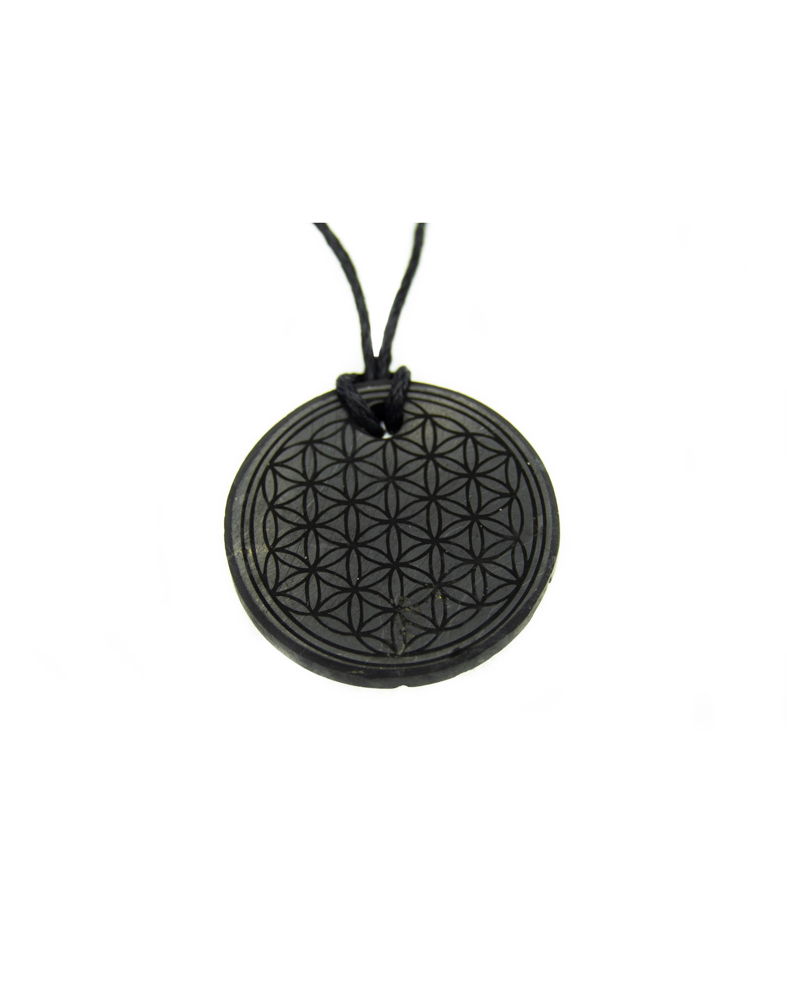 Shungite Pendant (Flower of life)