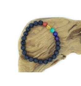7 Chakras and Lava Stone Bracelet