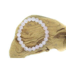 Bracelet Quartz rose 8mm