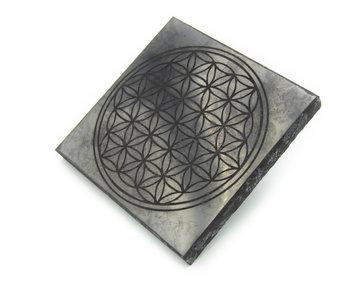 Shungite Plate (Flower of life)