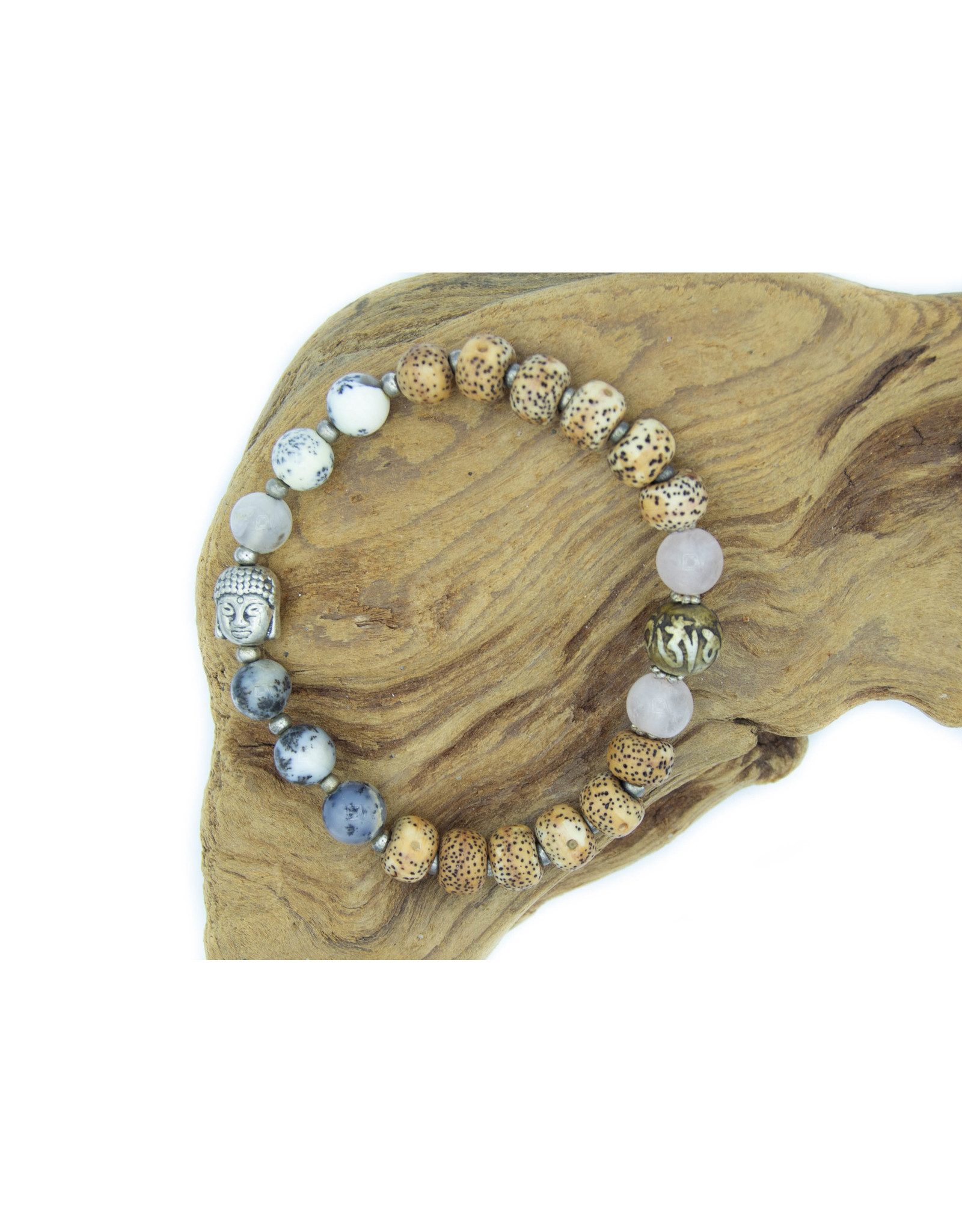 Bracelet  Lotus & mix pierres