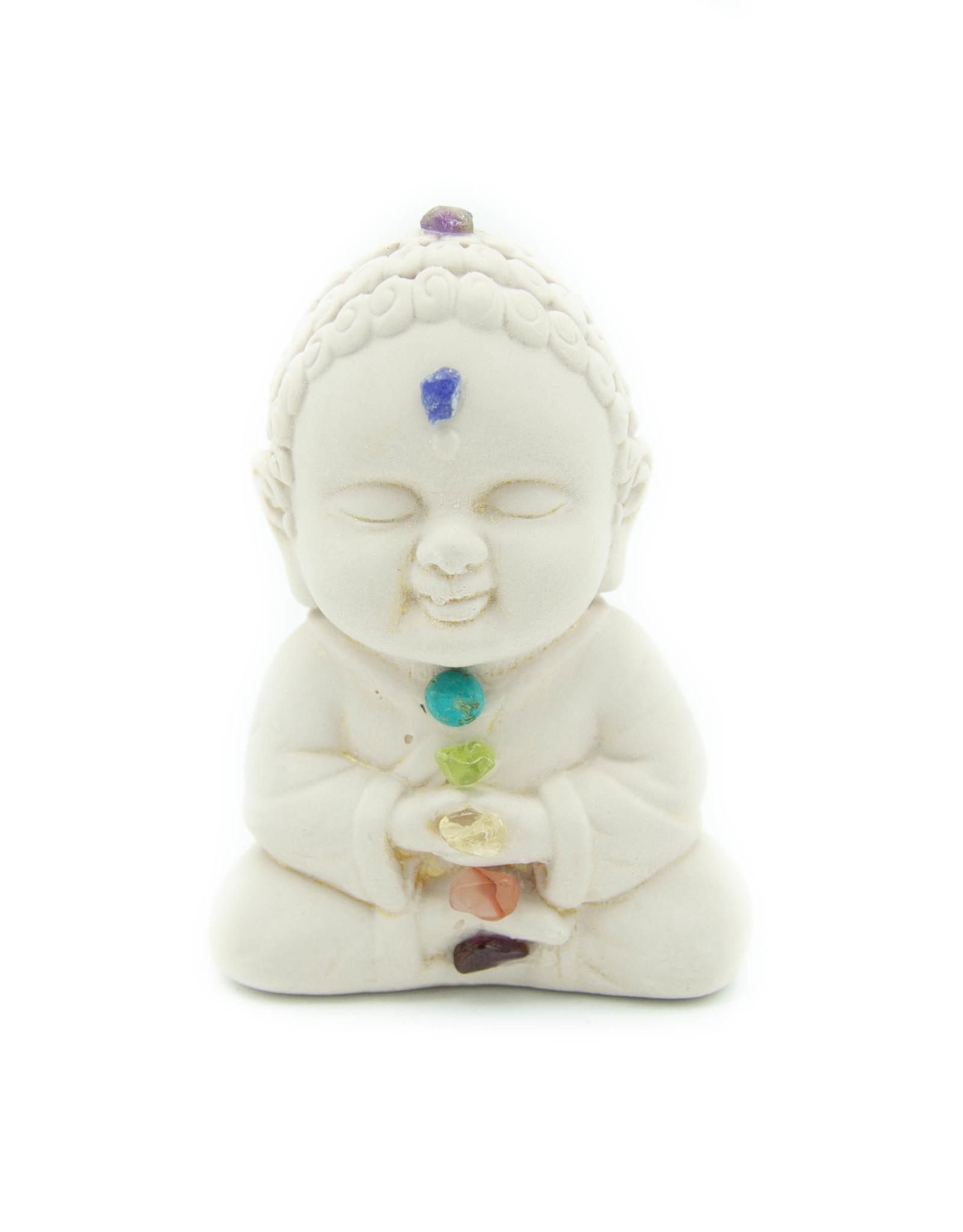 Bouddha plâtre (Chakras)