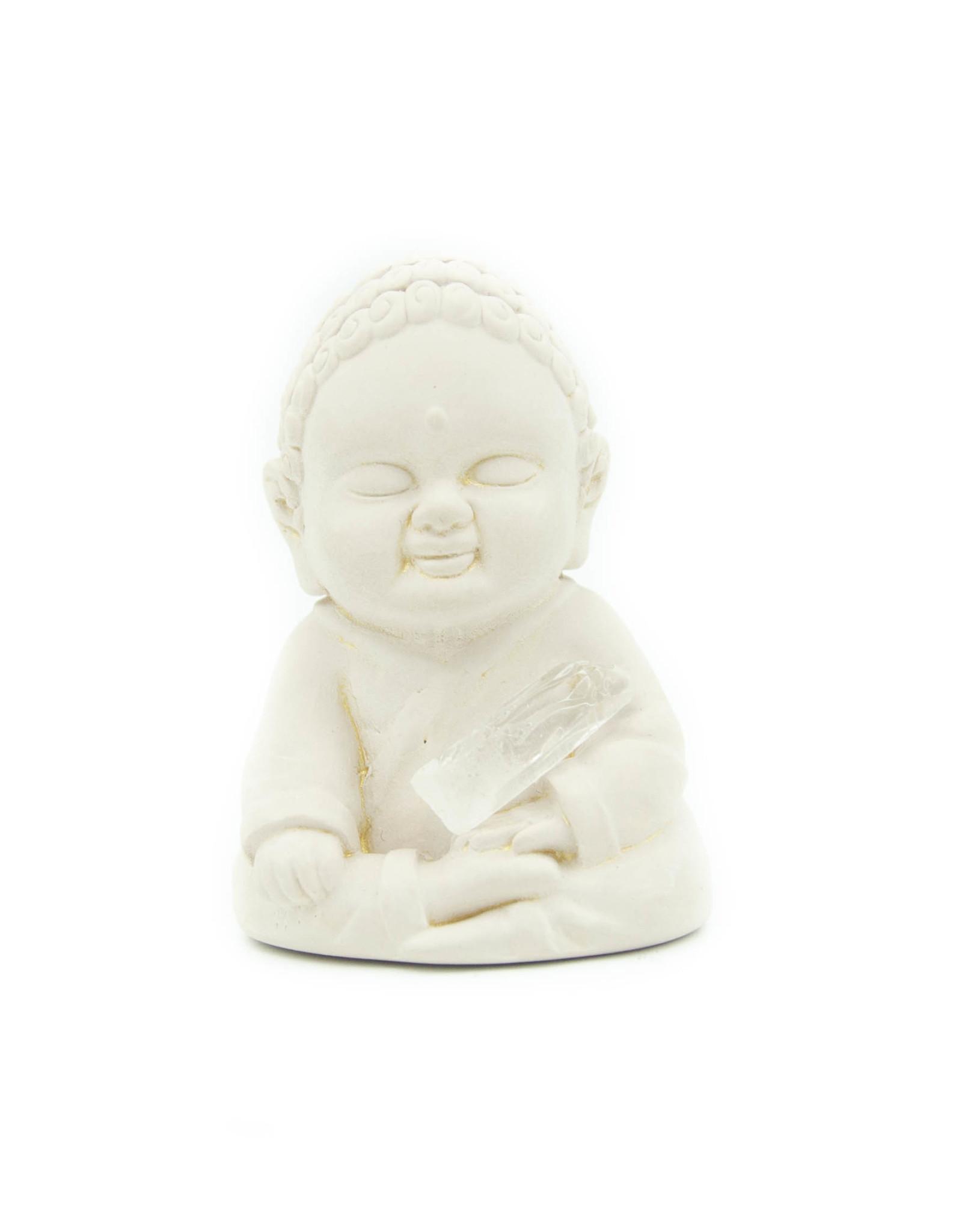 Bouddha plâtre (Touchant la terre)
