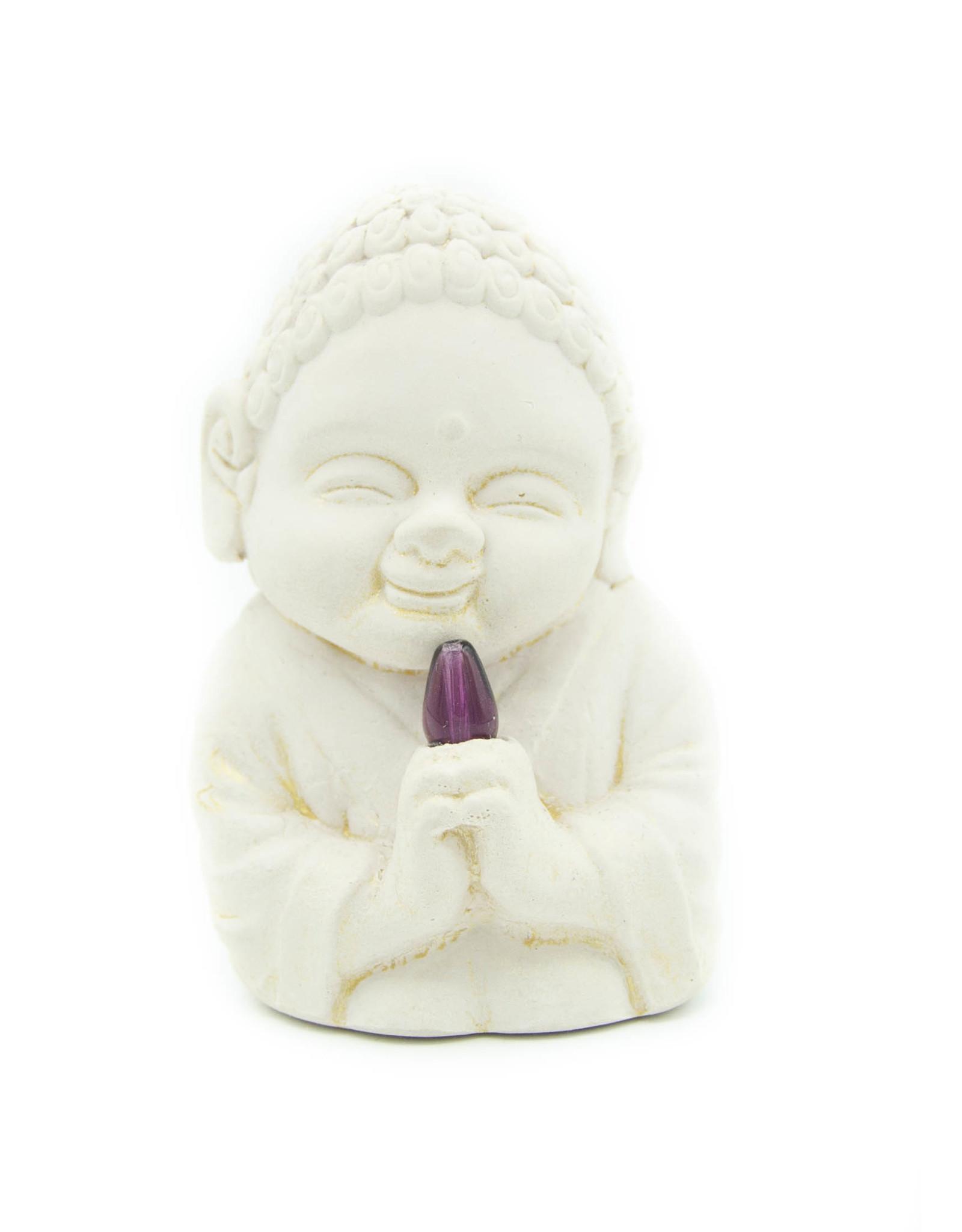 Bouddha plâtre (Guérisseur)Améthyste