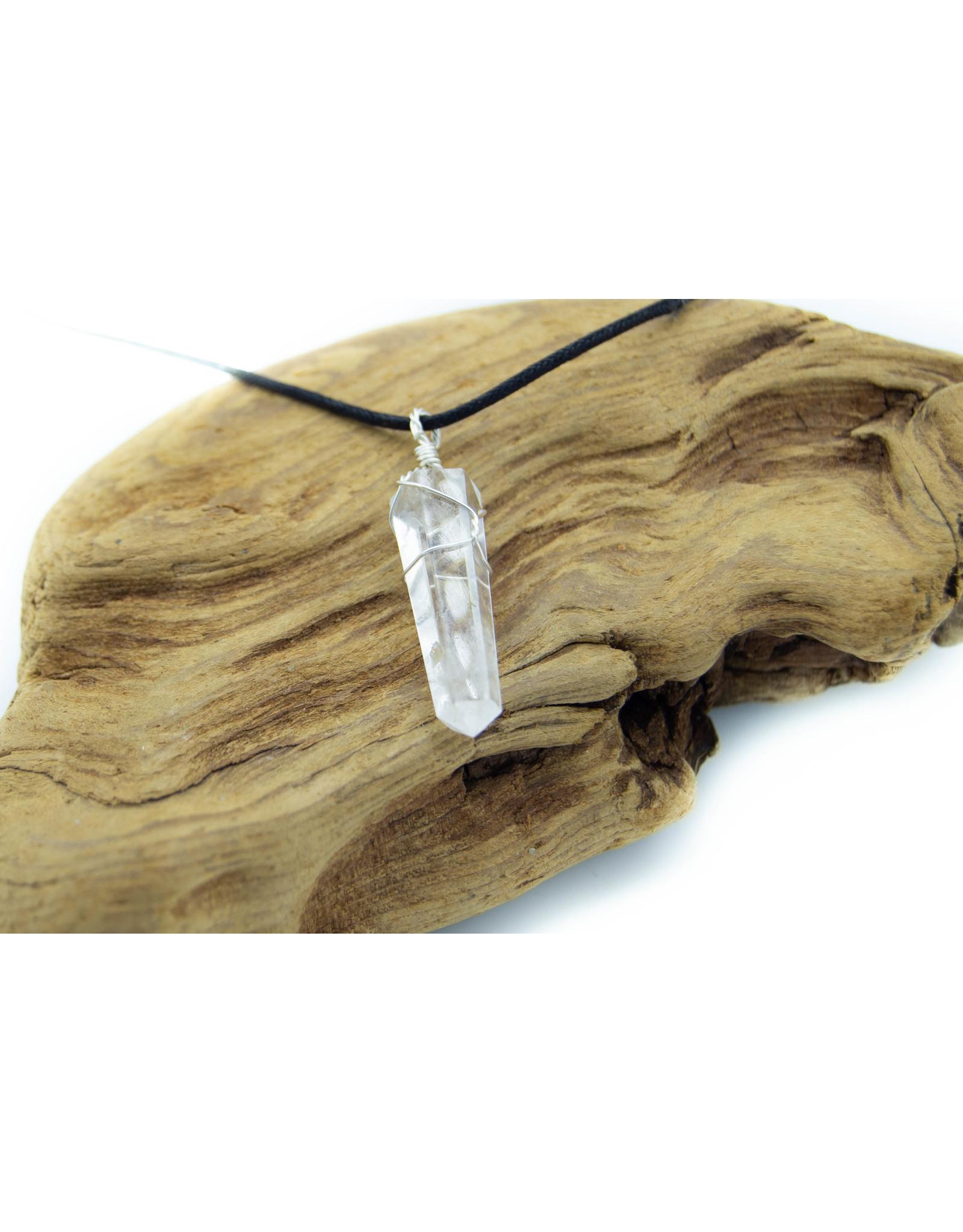 Clear Quartz handmade necklace