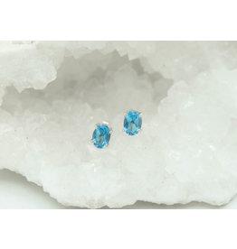 Boucle d'oreille Topaze bleue