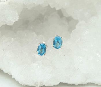 Blue Topaze Earrings