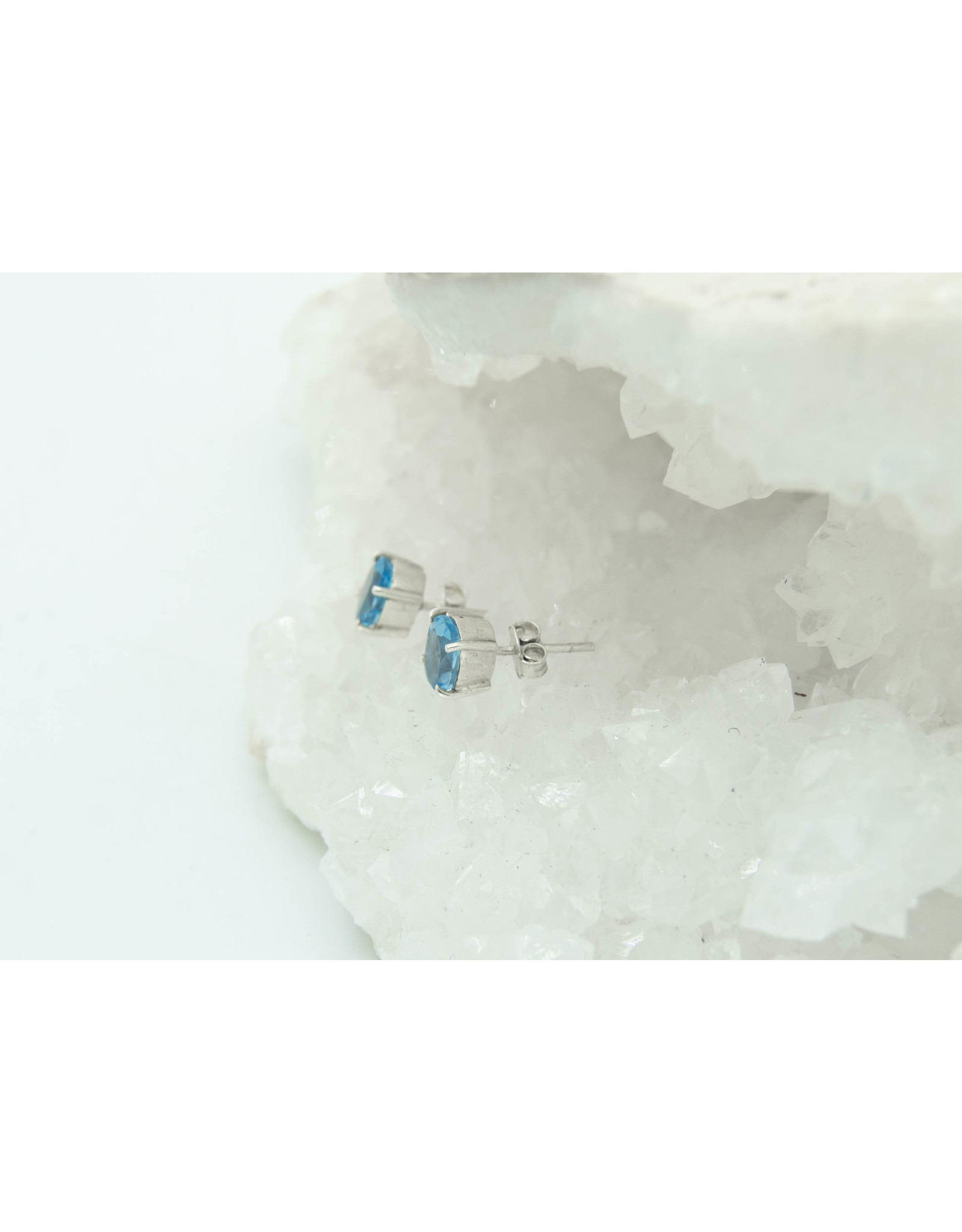 Blue Topaze Earrings