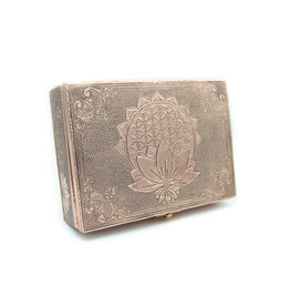 Metallic Box (Flower of life - Lotus)