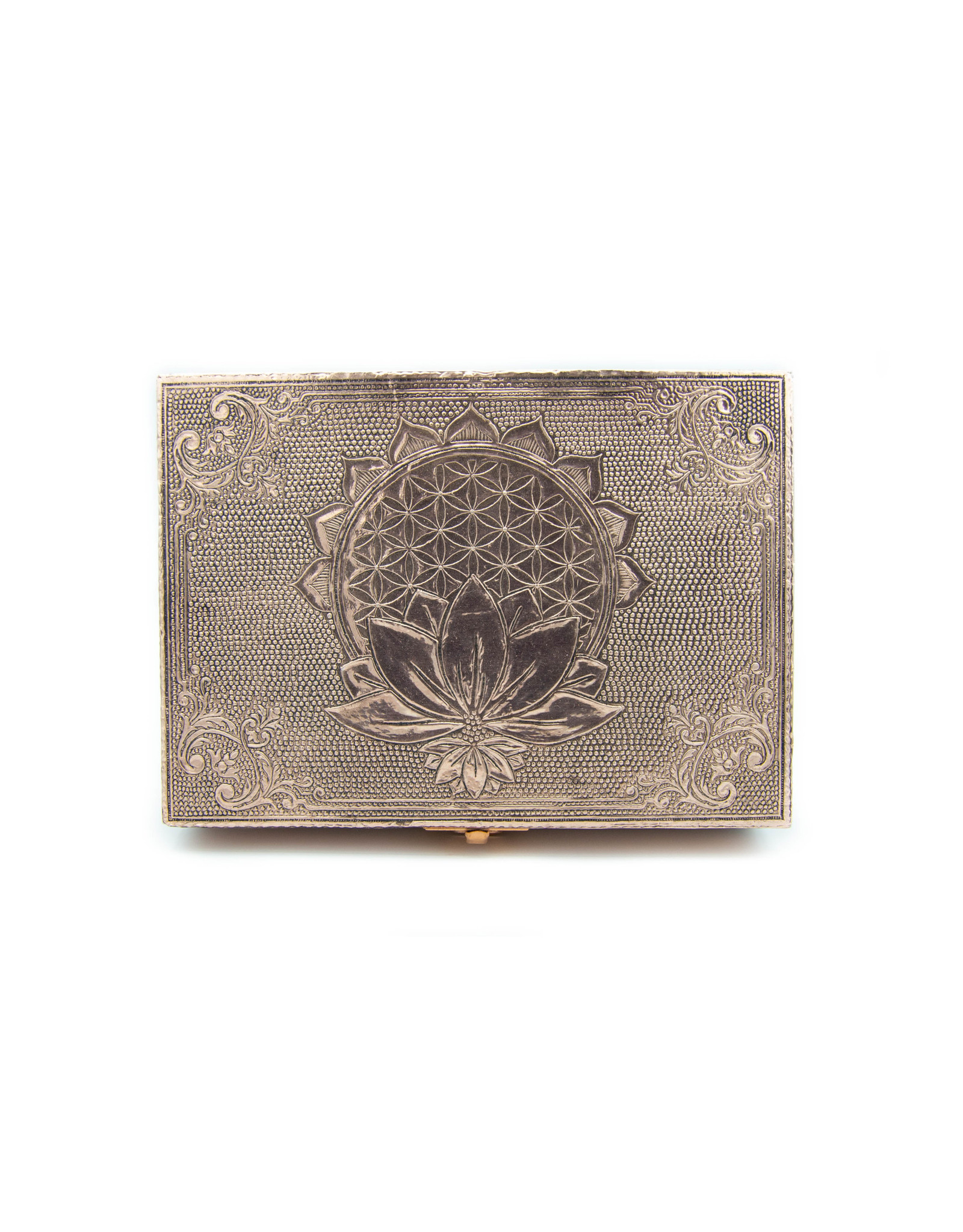 Boîte métallique - Fleur de vie - Lotus