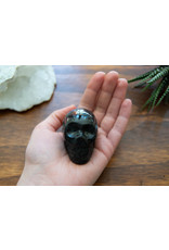 Black Labradorite Skull Head