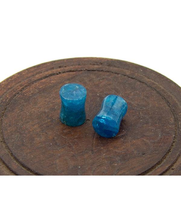 Blue Apatite Ear Plugs - 6mm