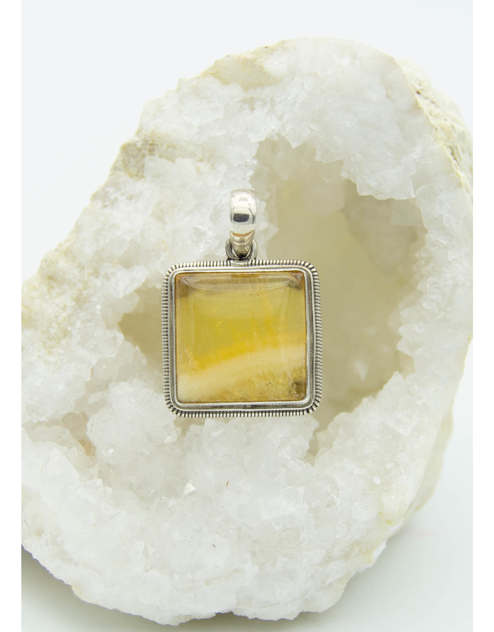 Yellow Calcite Pendant