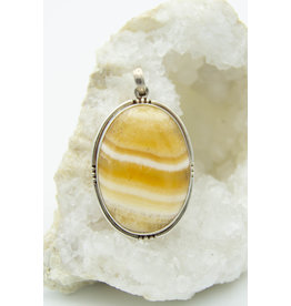 Yellow Calcite Pendant