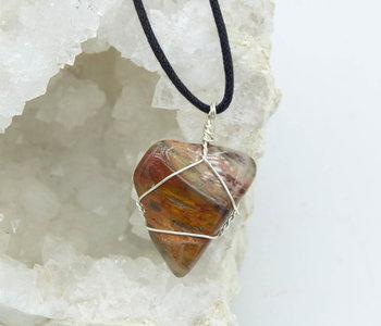 Petrified Wood handmade necklace