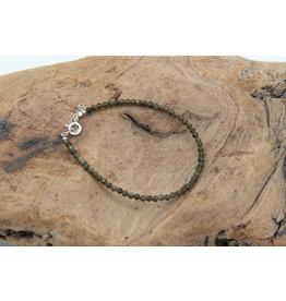Bracelet Obsidienne dorée mini